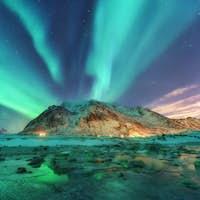 Aurora. Nothern lights in Lofoten islands, Norway