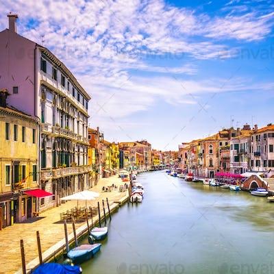 Venice water canal in Cannaregio. Italy