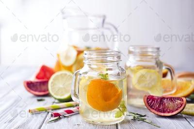 Refreshing summer drink orange frozen lemonade