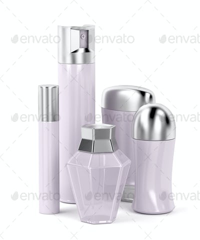 Set of female cosmetic products