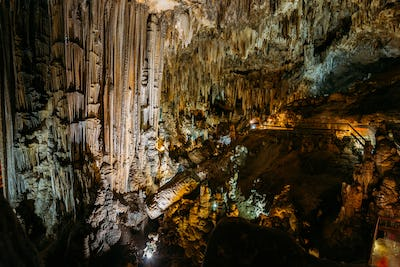 Nerja, Spain. Different Rock Formations In The Nerja Caves - Cue