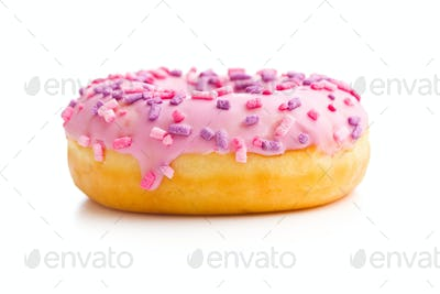 One pink donut.