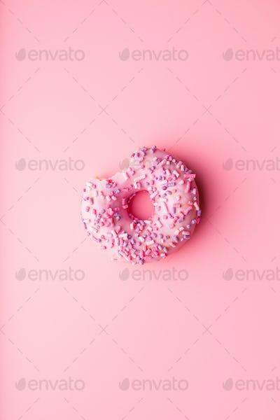 A bitten donut.