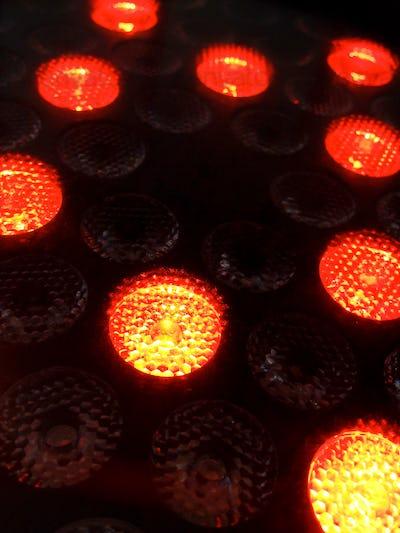 Close up of a LED light lamp