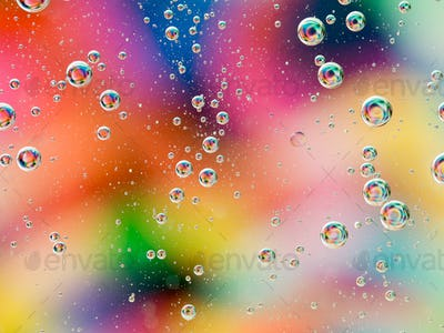 colorful wallpaper with oil drops