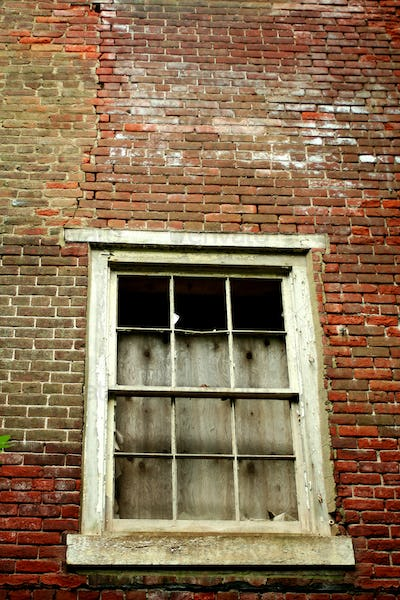 Window on a abandoned building