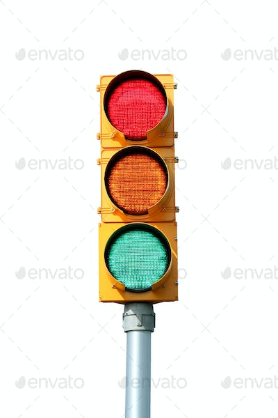 Isolated Traffic signal light