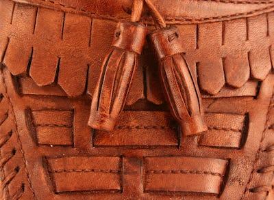 Mans leather dress shoe background