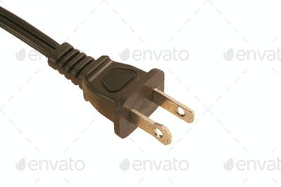 Isolated Electric cord plug