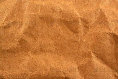 Wrinkled paper bag texture background