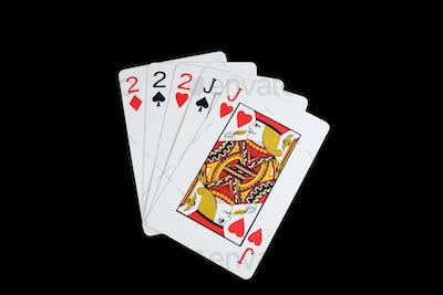 Isolated full house poker hand