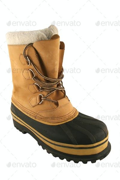 Isolated Snow Boot on white