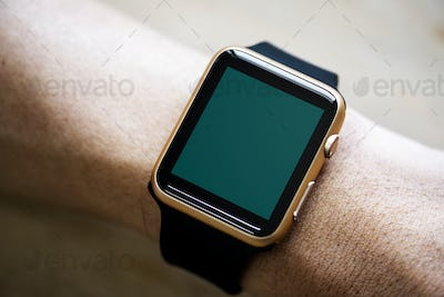 Closeup of mockup smartwatch