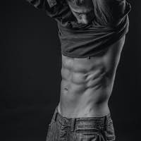 Perfectly shaped abs