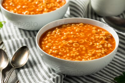 Healthy Alphabet Soup in Tomato Sauce