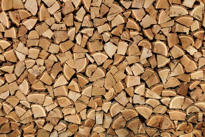 Background of dry firewood