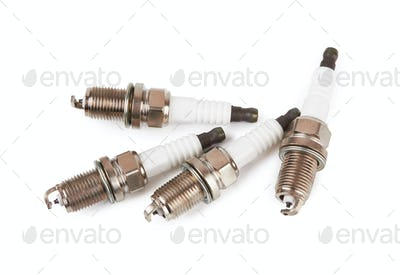 Spark plugs isolated