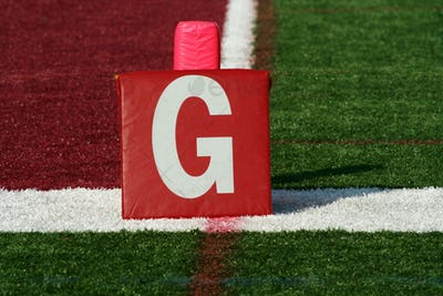 Football goal line yard marker