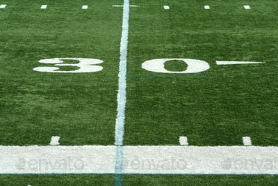 Football thirty yard marker