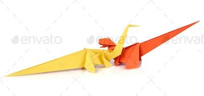 Origami dinosaurus