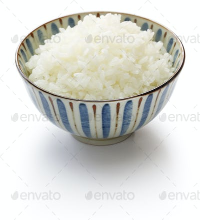 gohan, cooked white rice, japanese staple food