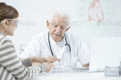 Doctor explaining dosage of medicines