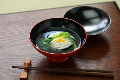 greenling soup, ainame-wan, japanese kaiseki cuisine