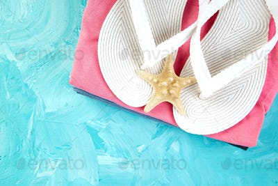Set of Woman's things accessories summer season.