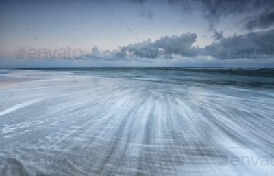 blurred  wave motion in north sea