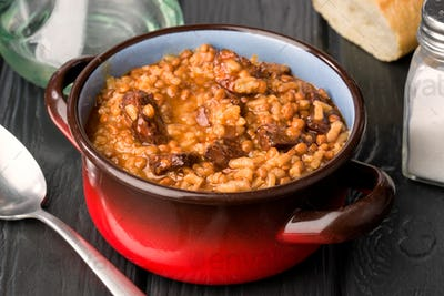lentils stewed with chorizo