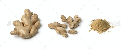 Fresh, dried and powder ginger