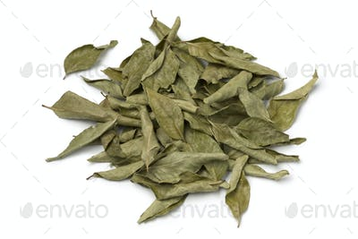 Heap of dried curry leaves
