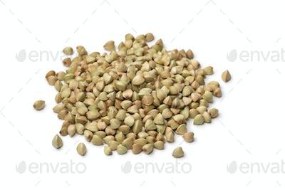 Heap of dried buckwheat seeds