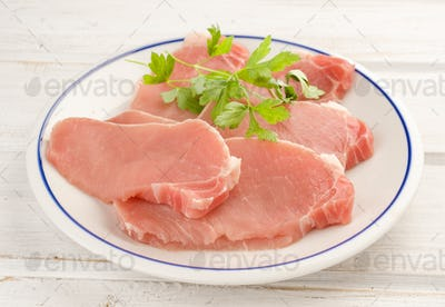 loin steaks with parsley and other plant foods