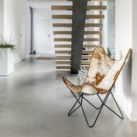Buffalo leather chair in apartment