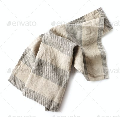 linen napkin on white background