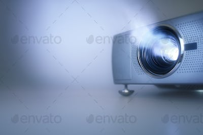 Presentation with lcd video projector