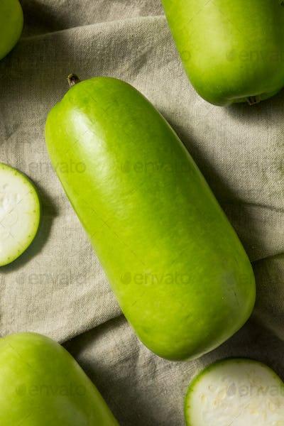 Raw Green Organic Opo Squash