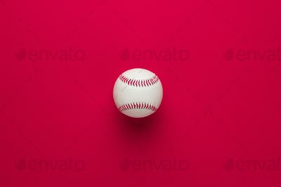 Baseball Ball On Red