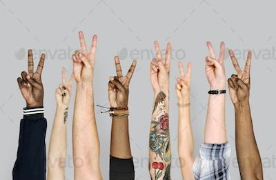 Hand gesture isolated