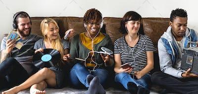 Friends enjoying the music