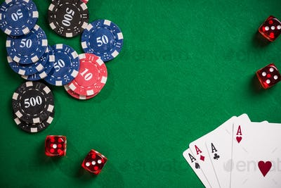 Poker and casino games concept