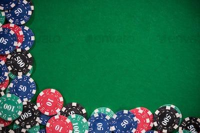 Poker and casino border background
