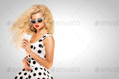 Pinup and coffee.