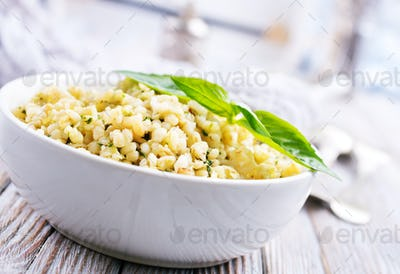 bulgur with pesto