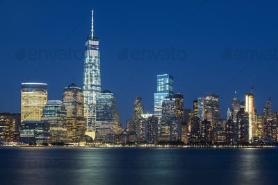 View of NYC by night