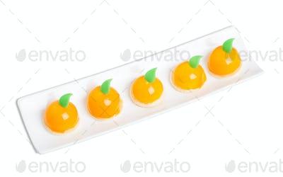 Delicious orange glazed cakes.
