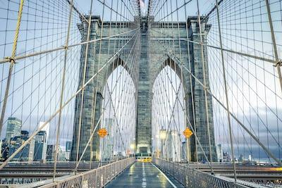 On the famous Brooklyn Bridge