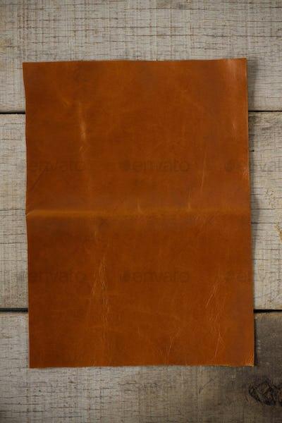 Old leather on floors