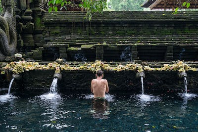 Holy Spring Water Tirta Empul Hindu Temple in Bali, Indonesia